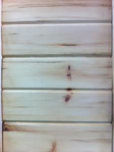 Plancher intérieur pin V joint